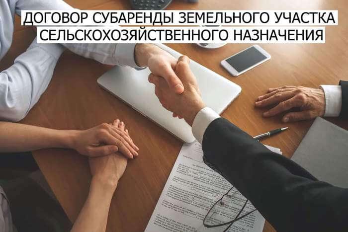 dogovor-subarendy-zemelnogo-uchastka-selskohozyajstvennogo-naznacheniya